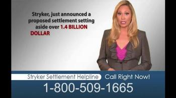Hughes & Coleman TV Spot, 'Stryker Settlement Helpline'