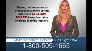 Hughes & Coleman TV Spot, 'Stryker Settlement Helpline' - Thumbnail 4