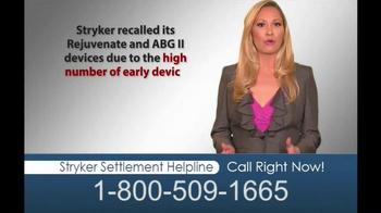 Hughes & Coleman TV Spot, 'Stryker Settlement Helpline' - Thumbnail 5