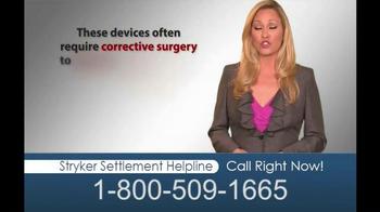 Hughes & Coleman TV Spot, 'Stryker Settlement Helpline' - Thumbnail 6