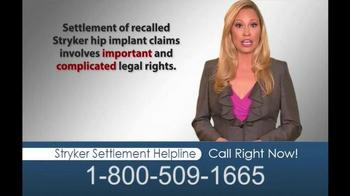 Hughes & Coleman TV Spot, 'Stryker Settlement Helpline' - Thumbnail 8