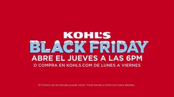 Kohl's Black Friday Ofertas TV Spot, 'Ahorrar en Grande' [Spanish] - Thumbnail 10