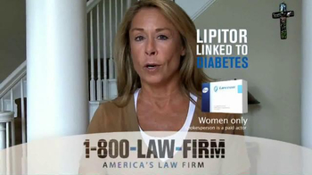 1-800-LAW-FIRM TV Spot, 'Lipitor Linked to Diabetes' - Thumbnail 2