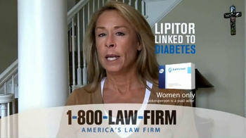 1-800-LAW-FIRM TV Spot, 'Lipitor Linked to Diabetes' - Thumbnail 3
