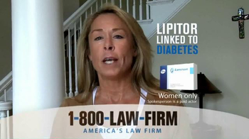 1-800-LAW-FIRM TV Spot, 'Lipitor Linked to Diabetes' - Thumbnail 4