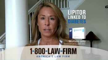 1-800-LAW-FIRM TV Spot, 'Lipitor Linked to Diabetes' - Thumbnail 5