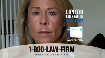 1-800-LAW-FIRM TV Spot, 'Lipitor Linked to Diabetes' - Thumbnail 6