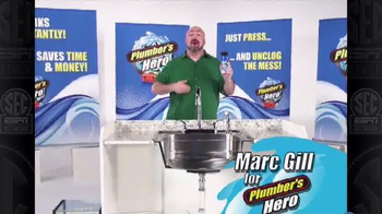 Plumber's Hero Drain Cleaner TV Spot, 'Unclog the Mess' Featuring Marc Gill - Thumbnail 1