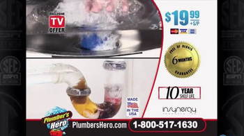 Plumber's Hero Drain Cleaner TV Spot, 'Unclog the Mess' Featuring Marc Gill - Thumbnail 10