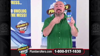 Plumber's Hero Drain Cleaner TV Spot, 'Unclog the Mess' Featuring Marc Gill - Thumbnail 5
