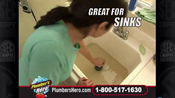 Plumber's Hero Drain Cleaner TV Spot, 'Unclog the Mess' Featuring Marc Gill - Thumbnail 6