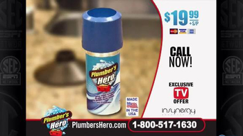 Plumber's Hero Drain Cleaner TV Spot, 'Unclog the Mess' Featuring Marc Gill