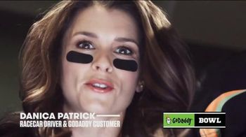 GoDaddy TV Spot, 'GoDaddy Bowl' Featuring Danica Patrick - 2 commercial airings