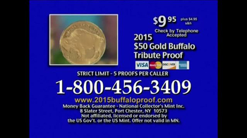 National Collector's Mint TV Spot, '2015 Gold Buffalo Tribute Proof' - Thumbnail 8
