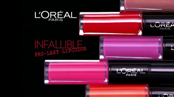 L'Oreal Infallible Pro-Last Lip Color TV Spot, 'Intensify Without the Dry' - Thumbnail 2