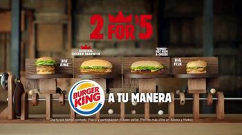 Burger King TV Spot, '2 por $5: Dos Sándwiches' [Spanish] - Thumbnail 8