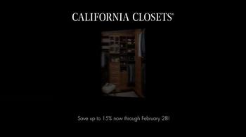 California Closets Winter White Upgrade Event TV Spot, 'Upgrade Each Room' - Thumbnail 1
