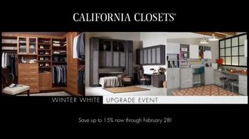 California Closets Winter White Upgrade Event TV Spot, 'Upgrade Each Room' - Thumbnail 2