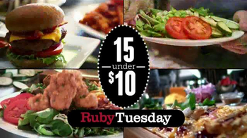 Ruby Tuesday 15 Under $10 TV Spot, 'Burgers, Flatbreads and More' - 4129 commercial airings