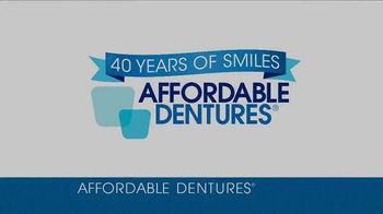 Affordable Dentures TV Spot, '40 Years of Smiles' - Thumbnail 1