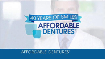 Affordable Dentures TV Spot, '40 Years of Smiles' - Thumbnail 2