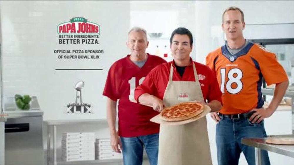 Papa john 39 s tv commercial 39 go two for pizzas 39 featuring - Papa john s pizza garden fresh pizza ...