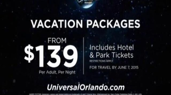 Universal Orlando Resort TV Spot, 'Dream Vacation: Packages $139' - Thumbnail 7