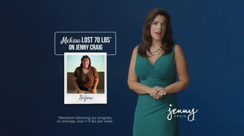 Jenny Craig TV Spot, 'Before and After: Melissa's Moment'