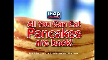 IHOP TV Spot, 'The All You Can Eat Pancakes are Back!' - 1225 commercial airings
