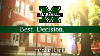 Marshall University TV Spot, 'Best. Decision. Ever.' - Thumbnail 10