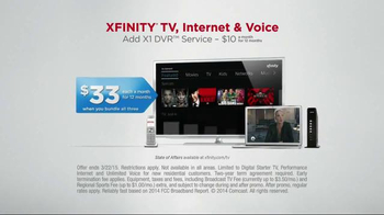 XFINITY X1 Entertainment Operating System TV Spot, 'TV & Internet Together' - Thumbnail 7