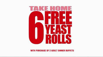Golden Corral Take-Home Yeast Rolls TV Spot, 'That's How We Roll' - Thumbnail 3