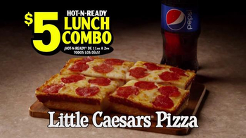 Little Caesars Hot-N-Ready Lunch Combo TV Spot, 'Combo Mambo' [Spanish] - Thumbnail 4