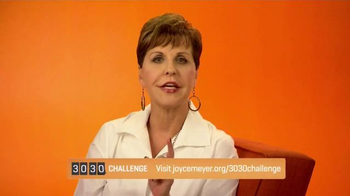 Joyce Meyer Ministries TV Spot, \'30/30 Challenge\'