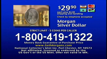 National Collector's Mint TV Spot, 'Morgan Silver Dollar: Just Located!' - Thumbnail 8