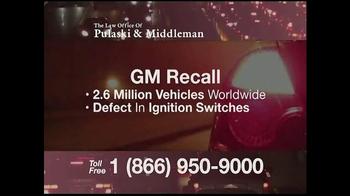 Pulaski & Middleman TV Spot, 'GM Recall Warning'