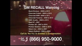 Pulaski & Middleman TV Spot, 'GM Recall Warning' - Thumbnail 3