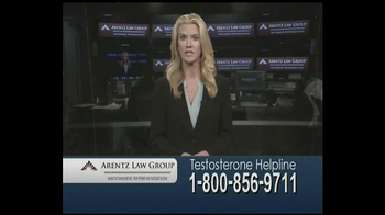 Arentz Law Group TV Spot, 'Testosterone Helpline: Compensation' - Thumbnail 1