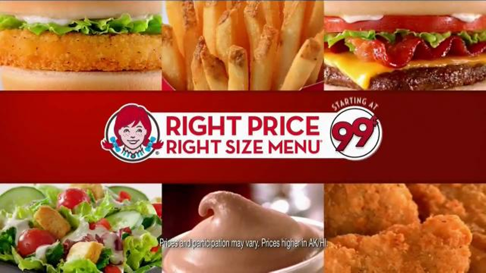 Wendy's Right Price Right Size Menu TV Commercial, 'Smile'