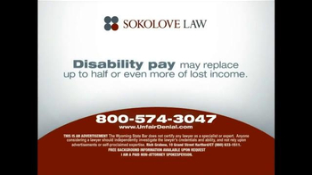 Sokolove Law TV Spot, 'Disability Pay' - Thumbnail 3