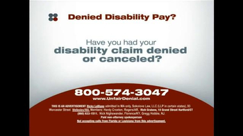 Sokolove Law TV Spot, 'Disability Pay' - Thumbnail 1