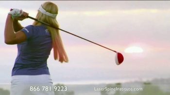 Laser Spine Institute TV Spot Featuring Peter Jacobsen, Natalie Gulbis - 16 commercial airings