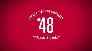 Ramada Worldwide TV Spot, \'Reason for Ramada #48: Playoff Tickets\'