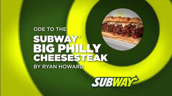 Subway Philly Cheesesteak TV Spot Featuring Ryan Howard - Thumbnail 1