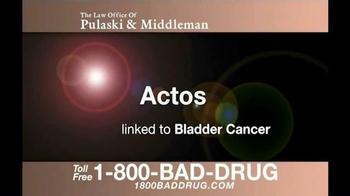 Pulaski & Middleman TV Spot, 'Bladder Cancer' - Thumbnail 1