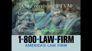 1-800-LAW-FIRM TV Spot, 'TVM' - Thumbnail 2