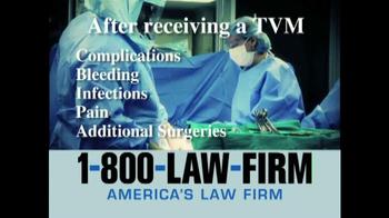 1-800-LAW-FIRM TV Spot, 'TVM' - Thumbnail 4