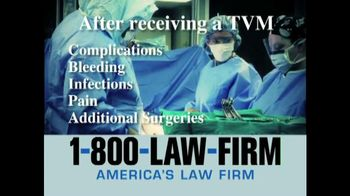 1-800-LAW-FIRM TV Spot, 'TVM'