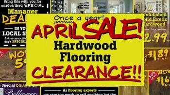 Lumber Liquidators April Sale TV Spot, 'Historic Deals'