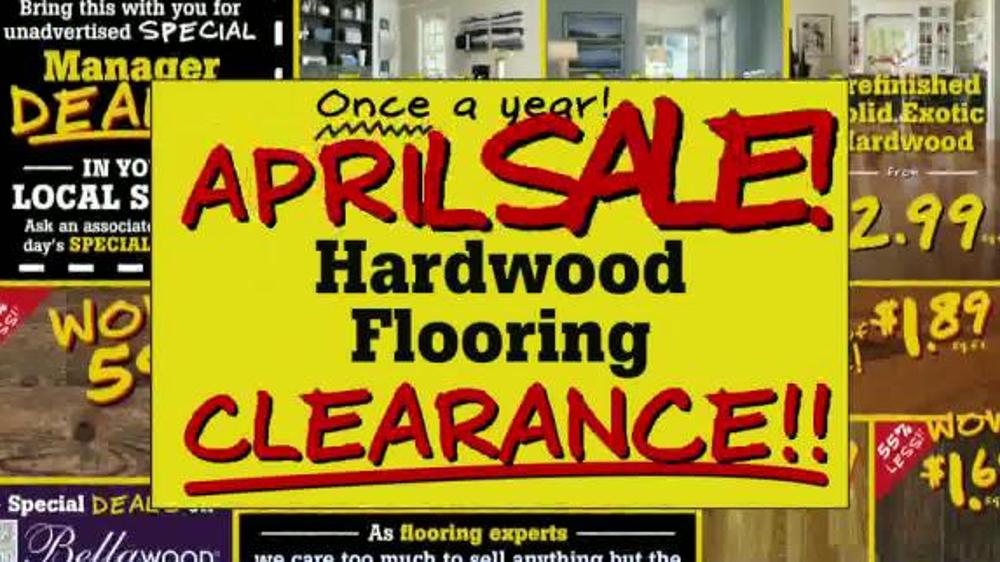 Lumber Liquidators April Sale Tv Commercial Historic